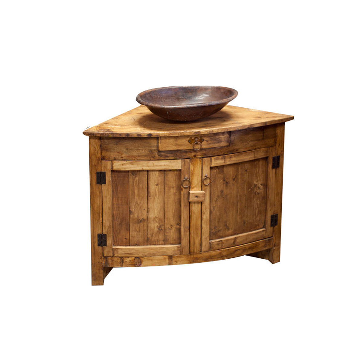 Buy Rustic Corner Vanity Online  Perfect for Small Bathroom