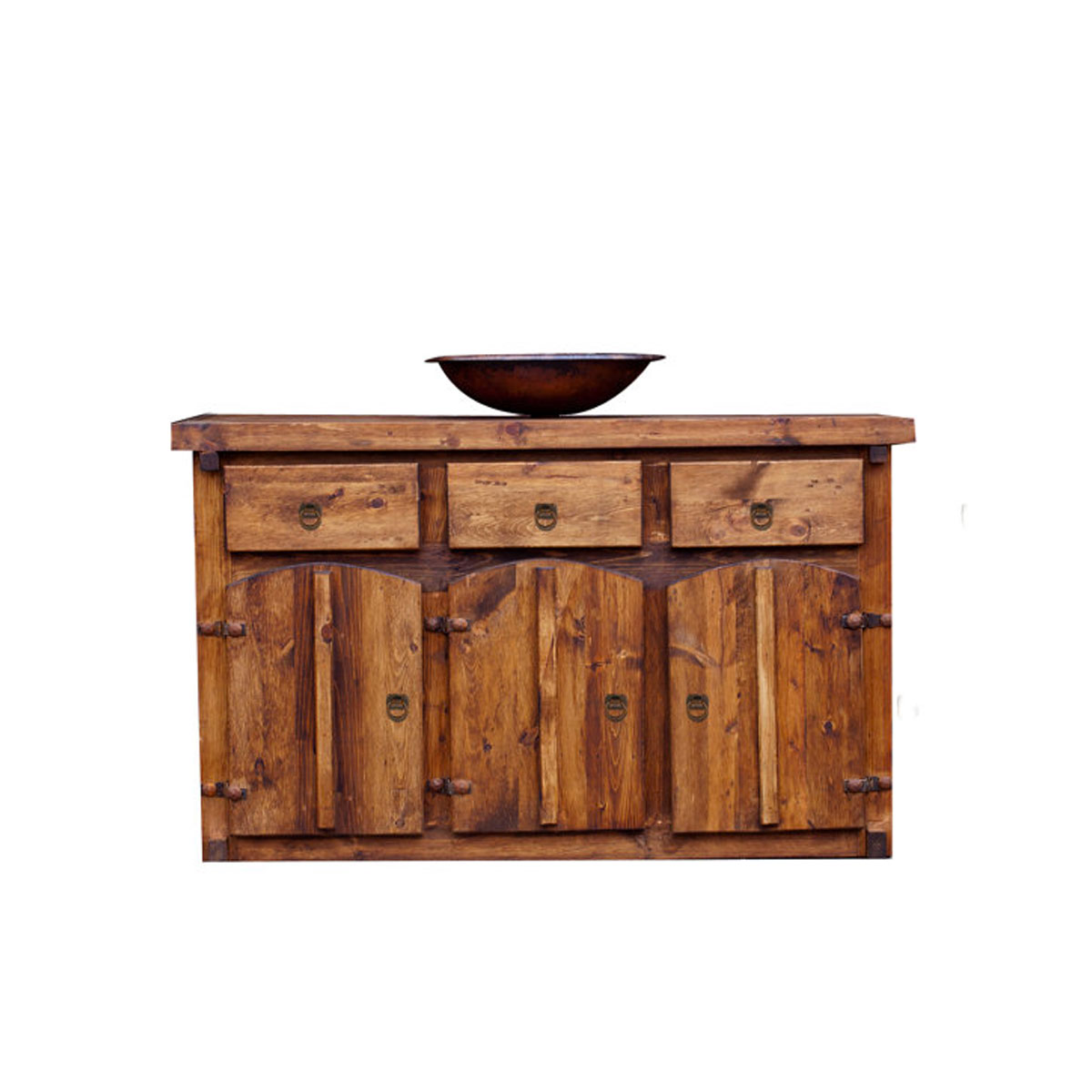 Buy Custom Made Colonial Bathroom Vanity With Unique Iron Accents Online