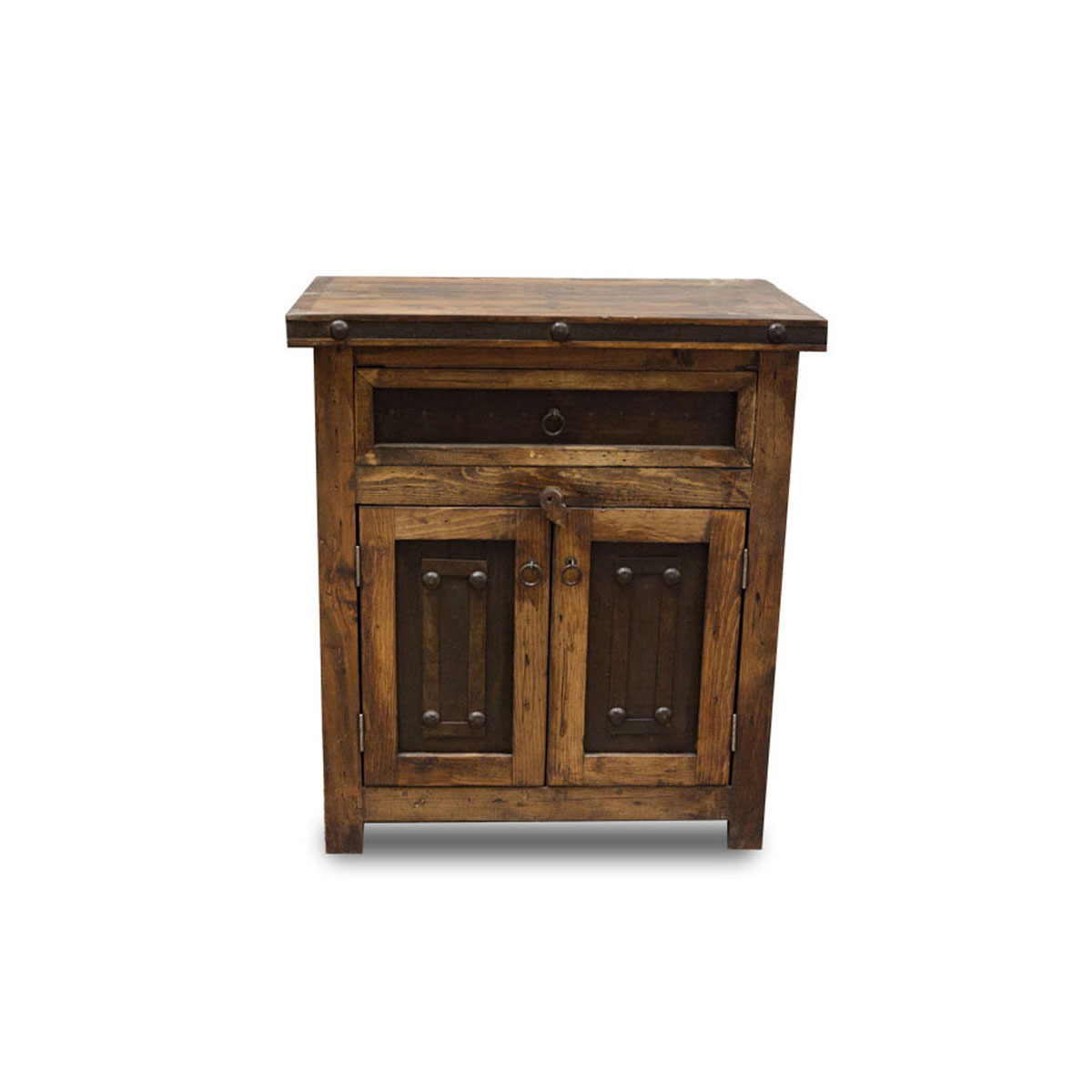 Purchase small reclaimed vanity with metal accents for Small vanity