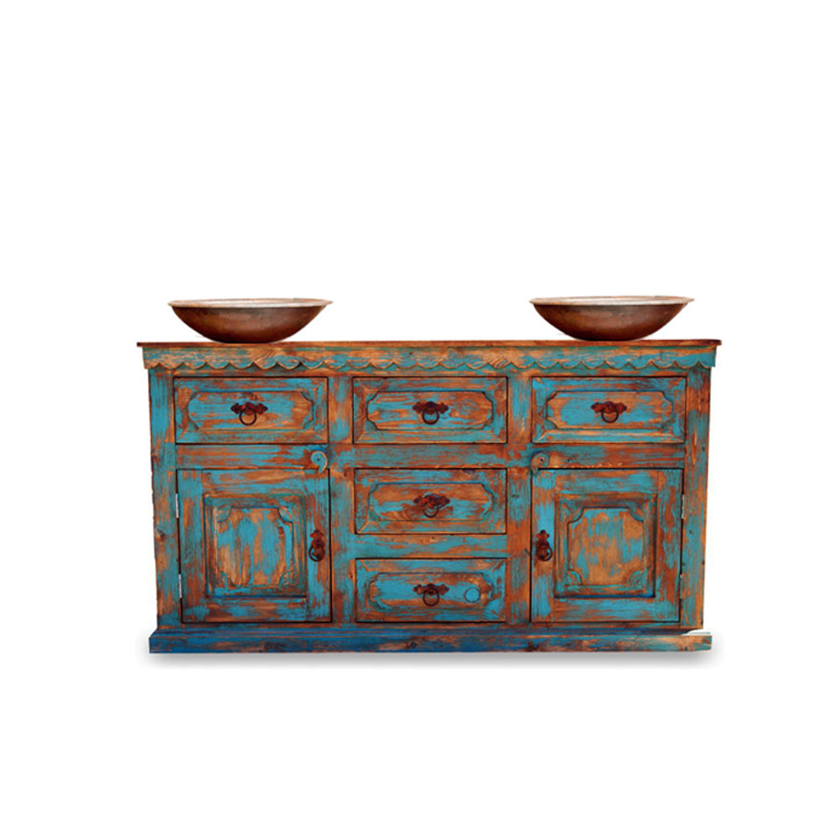 Buy Anson Distressed Rustic Vanity For A Double Or A Single Sink