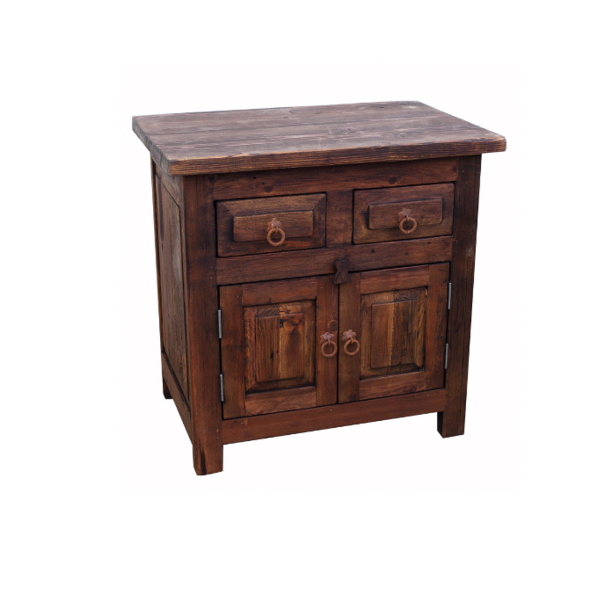 Buy 2 drawer rustic bathroom vanity online perfect for a bathroom with limited space Wooden bathroom furniture cabinets