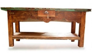 rustic style sofa table